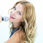 Woman Singing with Mic